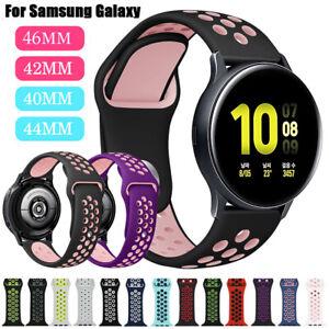 Sport-Silikon-Armband-Fuer-Samsung-Galaxy-Watch-42-46-Active-2-40-44mm-Band-Strap