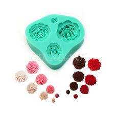 Stampo Fiori Rose Decora Design Torta Pasta Zucchero Riutilizzabile Silicone
