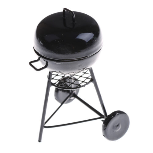 1:12 Dollhouse Miniature Black BBQ Grill Dollhouse Garden Outdoor Accessory BR