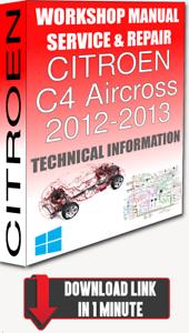 DOWNLOAD WIRING Service Workshop Manual /& Repair CITROEN C4 AIRCROSS 2012-2013