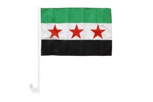 Syrie 1932-1963//Opposition-Armée syrienne libre Autofahne autoflagge drapeaux