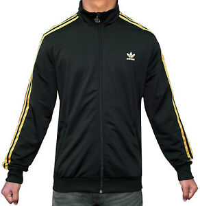 on sale 32f37 8637a Image is loading Kids-Boys-New-Adidas-Originals-Black-Gold-Track-