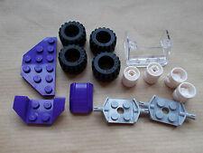 NEW GIRLS LEGO FRIEND CAR PACK NORMAL WIDE WHEELS TYRES 87697 6014 PURPLE BRICKS