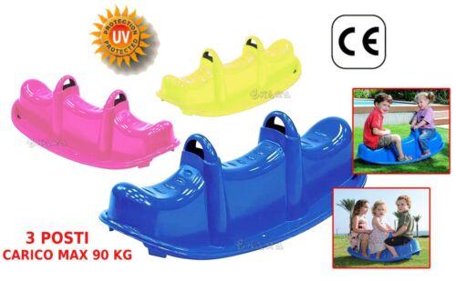 Dondolo bambini 3 posti da giardino gioco per bambini peso Max 90Kg 47-506