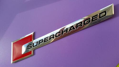 Red Supercharged AUDI Metal Emblem Badge Chrome Car Sticker A3 A4 S3 S4 A5