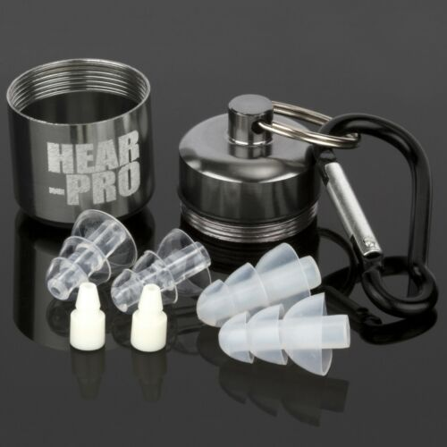CASE DEFENDERS SHOOTING HEAR PRO SONIC HEARING PROTECTION SILICONE EAR PLUGS