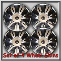 2015-2016 Cadillac Srx Chrome Wheel Skins, Hubcaps, 18 Wheel Cover Set Of 4