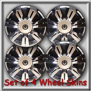 2011 2012 cadillac srx chrome wheel skins hubcaps 18. Black Bedroom Furniture Sets. Home Design Ideas