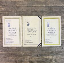 Three Badminton Cricket Club Testimonial Programmes & Memorial Ground Opening.