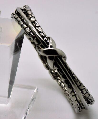 B327 exquis modèle Chic Inspiré Câble Clair x Stretch Cuff Fashion Bracelet