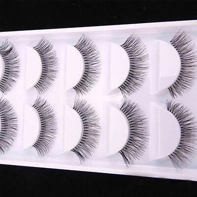 5Pairs Natural Sparse Cross Eye Lashes Extension Makeup Long False Eyelashes Hot