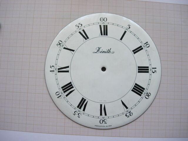 Cadran émail non percé pendule Zenith horloge Uhr Clock lic ato dial 151 mm N°12