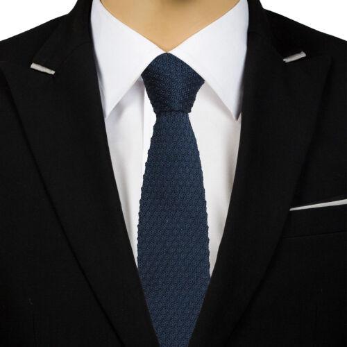JA Premium Grenadine Knitted Silk Solid Plain Casual Business Mens Slim Tie