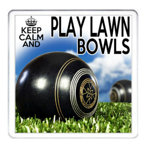 Lawn Bowls Coaster keep calm play Lawn Bowls peut être Personnalisé Mug disponible