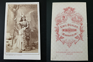 Buhler-Mannheim-actrice-a-identifier-Vintage-albumen-print-CDV-Tira