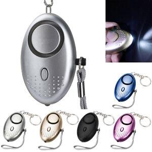 Emergency Personal Alarm Keychain LED Light Safe 130dB Sound Self Defense Alarms