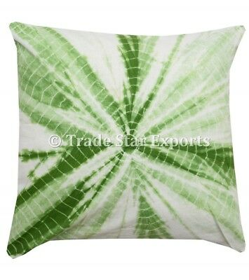 """Indian Tie Dye Square Cushion Cover 20/"""" Ethnic Handmade Throw Pillow Case Cover"""