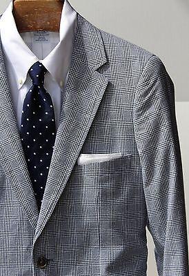 Jack Threads 40 Slim Cut Blue & White Check Cotton Suit - 33/32 SLIM TROUSERS