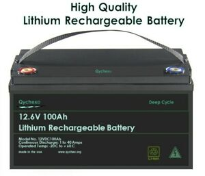 12V-100Ah-200Ah-Deep-Cycle-Lithium-Rechargeable-Battery-Free-10-Amp-Charger