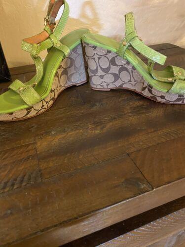 coach lime green Platform Heels