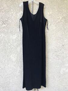 fc3fff19fc8 Onyx Nite Wendye Chaitin Sleeveless Maxi Dress Velvet Size 24 Black ...