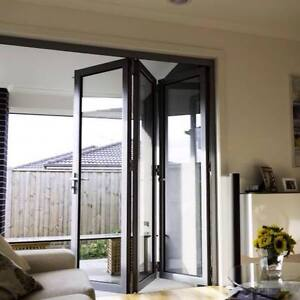 Aluminium Bifold Door Double Glazed 2110h X 2710w 330 Stock Size Ebay