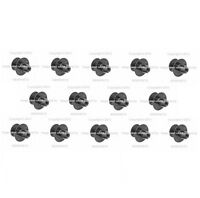 14 Hood Insulation Pad Push Pin Rivet Button Clip Retainer Set Kit Fits Mercedes