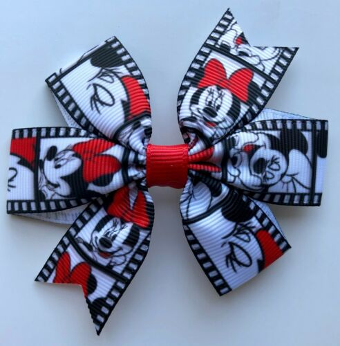"20 Minnie Mouse Design Hair Bows//Clips//Grips Designs 3/"" Bows"