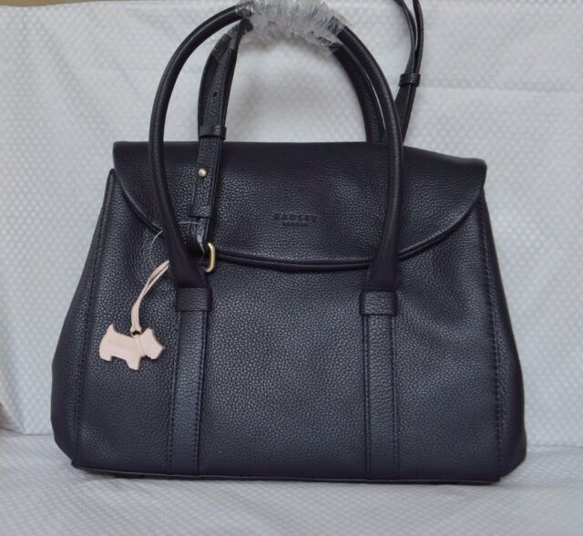 """Radley """"Waterloo"""" Navy Blue Leather Multiway Bag BNWT RRP £179 New!"""