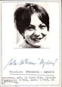 Miloslava-Rezkova-Czechia-Olympia-or-1968-Autographe-Athletisme-B-9349