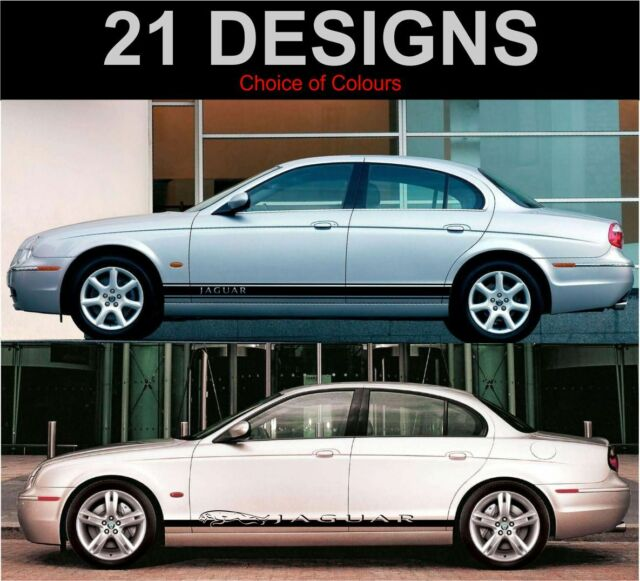 Jaguar s type side stripe decals stickers both sides
