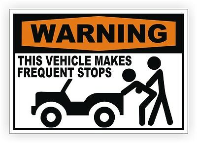 decal vehicle truck delivery This Vehicle Makes Frequent Stops sticker