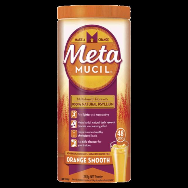 Metamucil Fibre Supplement 283g Powder (48 Doses) - Orange Smooth Psyllium Husk