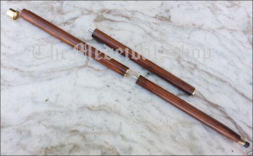 Antique Vintage Brass Wooden Walking Stick Cane Telescope Handle Vintage Gift