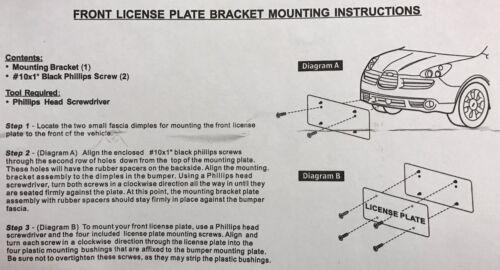 LICENSE PLATE TAG HOLDER MOUNT ADAPTER BUMPER KIT BRACKET FOR SUBARU BRAND NEW