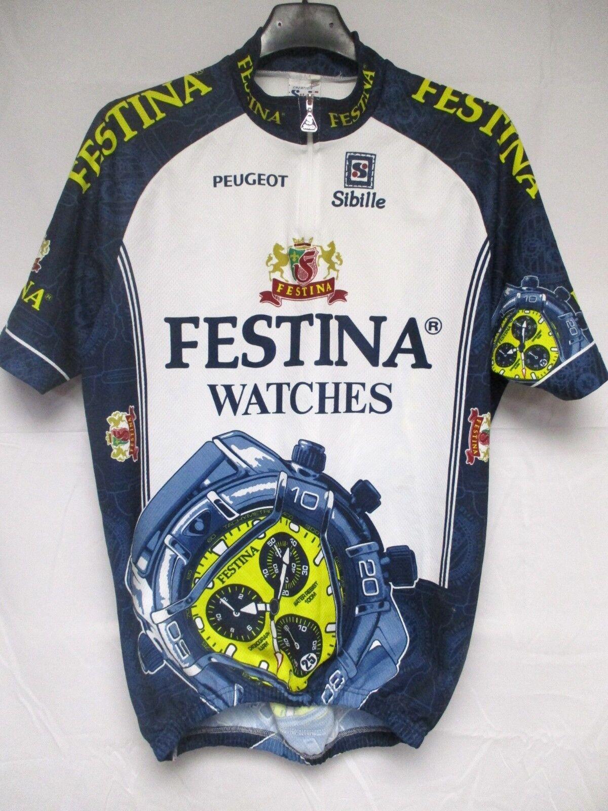 Maillot cycliste FESTINA Tour de France 1996 Virenque maglia shirt Peugeot XXXL