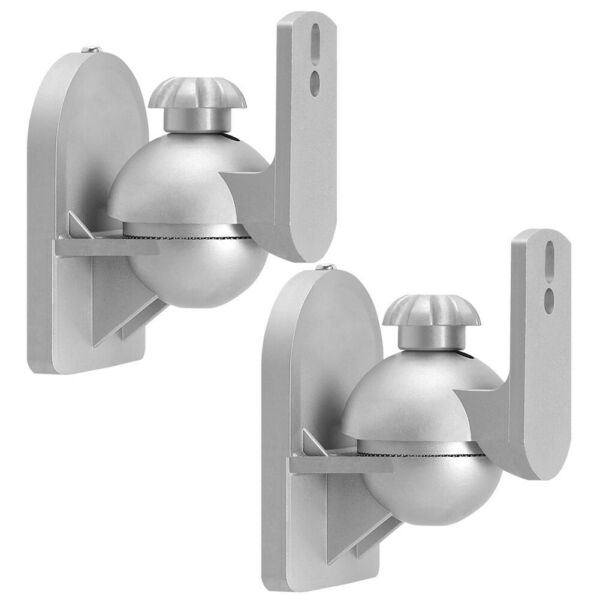 2 Pcs Wall Mount Bracket Tilt Swivel For Satellite Audio Speaker Surround Sound Up-To-Date Styling