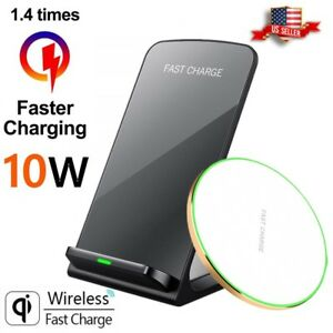 Qi Wireless Fast Charger For Apple iPhone 8 X XR XS &Samsung Galaxy Note S8 S9