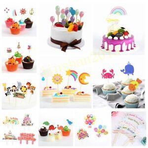 Geburtstagsfeier-Tierballon-eingefuellt-Karte-Kuchen-Cupcake