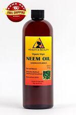 NEEM OIL ORGANIC UNREFINED CONCENTRATE VIRGIN COLD PRESSED RAW PURE 32 OZ