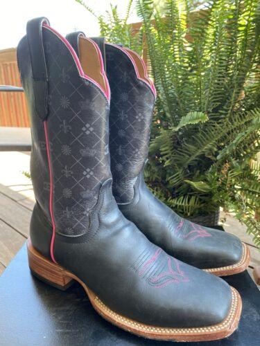 Cinch Edge Cowgirl Cowboy Western Boots Black & Pi