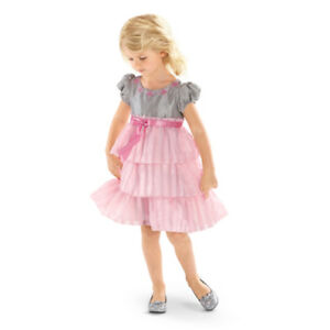 American Girl CL BITTY BABY TWIRLY TIERED DRESS SIZE 7 XL for Girls NEW