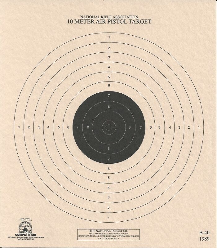 "USA Shooting 100 1-1//4/"" Black 6-1//2/"" x 7/"" TYRO 10 Meter Air Rifle Target"
