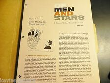 OF MEN AND STARS 1957 1958 LOCKHEED AIRCRAFT Military Jets AIRPLANE LOT Airforce