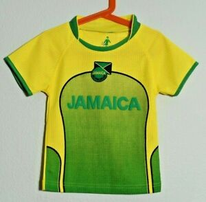 Sportz-Toddler-Size-2-4-Jamaica-Football-Federation-Yellow-Green-Soccer-Jersey