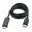 Black-6FT-1-8-meter-Display-Port-DisplayPort-DP-to-HDMI-Cable-Adapter thumbnail 1