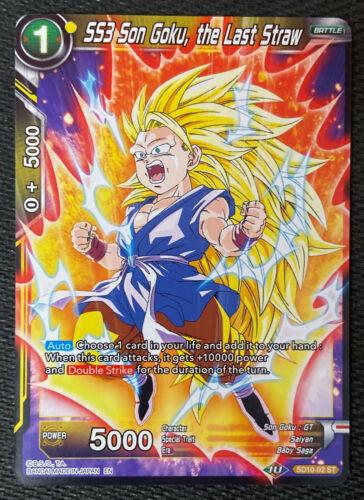 A Última Gota SD10-02 Star Trek Dragon Ball Super Tcg quase perfeito SS3 Son Goku