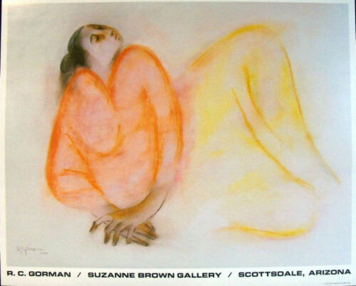 R C Gorman ORANGE SHAWL FINE ART GALLERY Poster Art Free Shipping in US