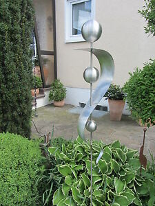 Details zu Edelstahlstele Edelstahl Gartenstecker Skulptur Garten Rostfrei  Kugel 27