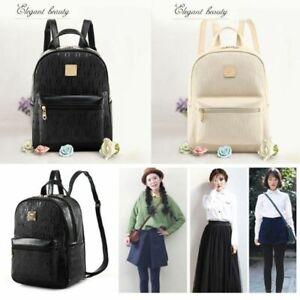 4Pcs-Set-PU-Leather-Bag-Travel-Backpack-Rucksack-Shoulder-School-Bag-Women-Girls
